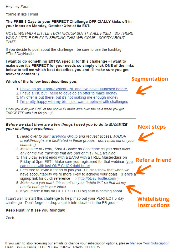 segmentation email