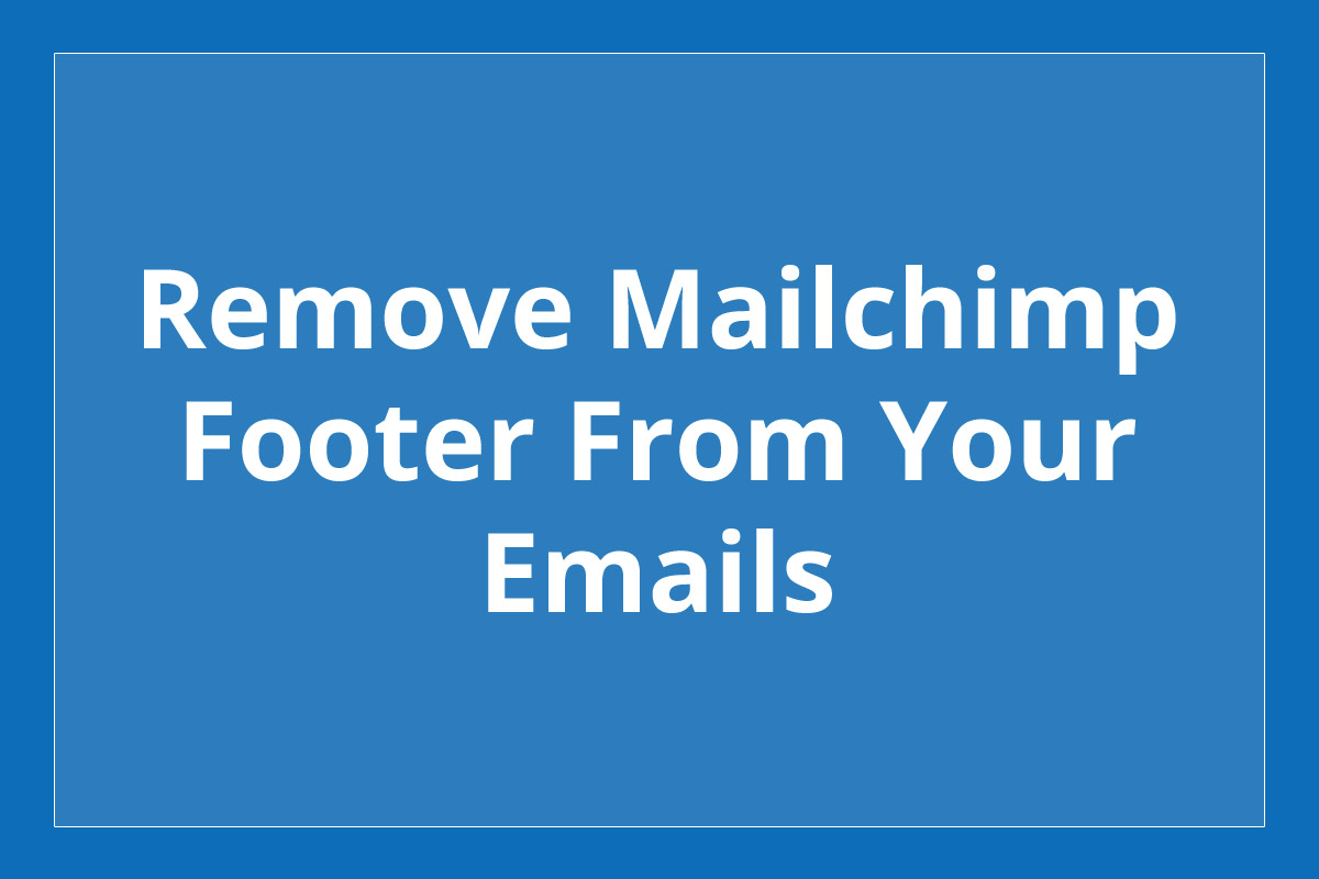 how to send email from mailchimp